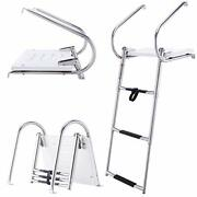 Co-z 3-step Collapsible Pool Laddertelescoping Boat Ladder Construction And Fiber