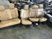 2011-2016 Ford F250 F350 Complete Set W/console/pass/rear Leather Heat/cool/mem