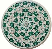 2and039 White Antique Pietra Dura Marble Table Top Coffee Side Inlay Home Decor