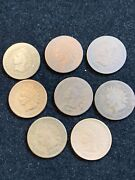 8 Pc Lot 1867 Indian Head Cent  1c Penny Ag-g Clear Dates Some Cleaned