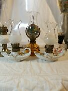 Lot Of 5 Miniture Oil Lamps