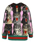 Embellished Collar Angry Cat Sweater Nwt M