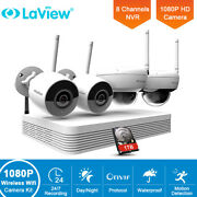 Laview 8ch Nvr Wifi Camera System 4x 2mp Bullet Ipc And Dome Ip Camera W/1tb Hdd