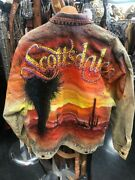 Vntge Hand Painted Scottsdale By Tony Alamo Artistry In Glitz 80s Jacket Womns M