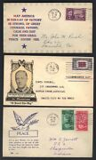 Us 1940's 3 Patriotic Covers With Stamp And Cachet Of President Franklin Roosevelt