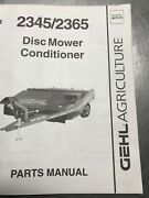 Gehl 2345 And 2365 Disc Mower Conditioner Parts Manual