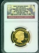 2015-w 10 Gold First Spouse Mamie Eisenhower Ngc Pf70 Pr70 First Releases F.r.