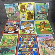 Vintage Disney Frame Tray Playsckool Rose Art Children Puzzles Lot Of 9 Puzzles