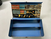 Vintage Bernzomatic Metal Teal Blue Tool Tin Tackle Box Carrying Case Tx-25 Rare