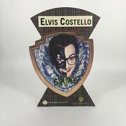 Rare Vintage Elvis Costello Spike 3d Stand Up Counter Display Promo Die-cut