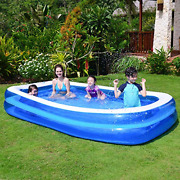 Chiclist Inflatable Swimming Pool 120x72x20in For 1-5 Kids Kiddie Pools Family