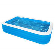 Handr Kiddie Pool Family Inflatable Swimming Pool, 125x71x 30 Full-sized Blow 3