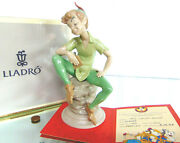 New Lladro Disney Peter Pan Numbered 1360 Limited Edition Figure Signed Box