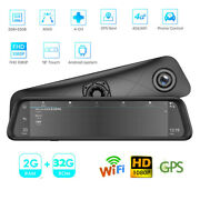 12 Lcd 4g Wifi Car Rearview Mirror Dvr Recorder Android Gps 1080p Fhd 4 Camera