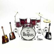 Miniature Display Drums Red And Guitar Band Rock Star Signature Gift Ludwig