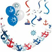 Nautical Party Decorations For Baby Shower Sailor Birthday Party Cruise Theme
