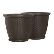 Sonora 18 In. Round Java Blow Molded Resin Planter 2-pack
