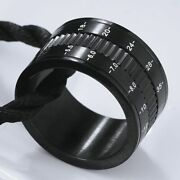 Photographer Rings Black Camera Lens For Men Separate Rotatable Decompression