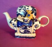 Royal Doulton - Cardew Teapot - Teddy Bear Chair - Boothand039s Real Old Blue Willow