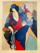 Tarkay Five Graces I Serigraph On Paper Hand Signed And Numbered Lady Seating