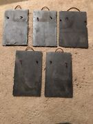 Slate Roof Shingles For Crafts 15 Pcs With Leather Hanger