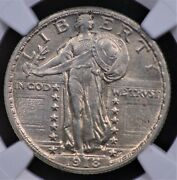 1918 S Standing Liberty Quarter Ngc Ms 62 Full Head Excruciatingly Tough In Fh