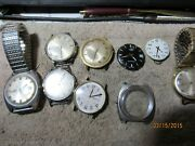 Lot Of 8 Mens Wrist Watches Mostly Unknown Condition Mostly Timex 16