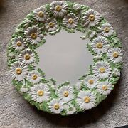"""Mottahedeh Italy Magolica Style Daisy Set Of 4 Dinner 10"""" Plates Dishes Vintage"""