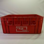 The Pop Shoppe Soda Bottle 24 Count Carrier Case Crate Kool 1970's Advertising