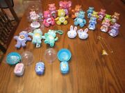 24 Care Bear Items Key Chains, Cake Toppers, Pvc Figurines Etc