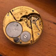 Elgin Pocket Watch Movement 16 Size Grade 293- 7 Jewels - For Parts Nice Dial