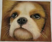 Original Puppy - Oil Painting Canvas 8x10 Inches No Frame Free Shipping