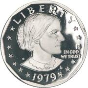 1979 S Susan B. Anthony Dollar Type 2 Clear S Gem Deep Cameo Proof Us Coin