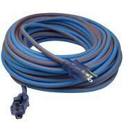 Clear Power 100 Ft Tpe Rubber Heavy Duty Extension Cord, Cp10092
