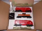 American Flyer 20201 Santa Fe A-a Freight Set In Repro Box Nice Lot M-137