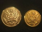 Early Production Pre-wwi Great Seal Coat Button And Wwii Overcoat Button