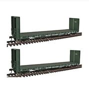Walthers 932-240053 Gold Line Canadian 50' Bulkhead Flat Car 2-pack Bc Rail Bcol