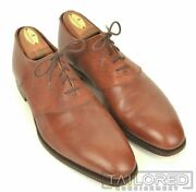 George Cleverley Solid Brown Leather Mens Oxford Dress Shoes - Uk 9 / Us 10 E