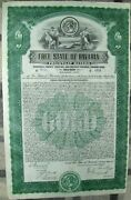 German-american 500 Gold Bond The Free State Of Bavaria With Coupons 1925