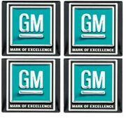 Oer Aqua Mark Of Excellence Seat Belt Decal Set 1964-1967 Pontiac Chevy Buick