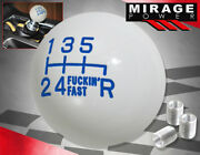 For Nissan Jdm Vip Twist-on Round Ball Type 6spd Manual Lever Shift Knob Blue