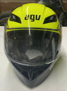 Used Agv Numo Evo X-large Xl Motorcycle Full Face Helmet Yellow And Black Mod