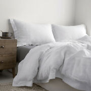 Simpleandopulence 100 Linen Duvet Cover Set With Embroidered Button Closure