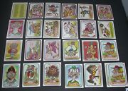 Wacky Packages X23 Different Leaf Baseball Awesome All Stars Sticker Cards