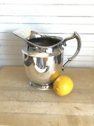 Vintage Pitcher Poole Silver Company Silver Plated Taunton Massachusetts Epns