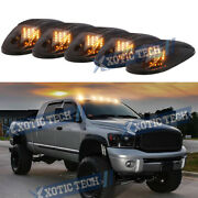 Smoked Lens Amber Led Cab Roof Clearance Lights For Dodge Ram 1500 2500 03-17