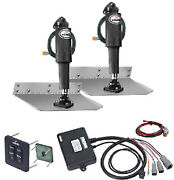 9 X 12 Standard Mount Trim Tab Kit With Standard Tactile Switch - Lenco