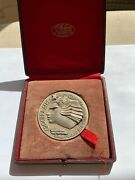 Italy Mussolini Flight From Rome To New York, World's Fair, 1933 Silver Medal