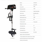 48v Electric Outboard Motor Engine Fishing Boat 2200w Hangkai Brushless Motor