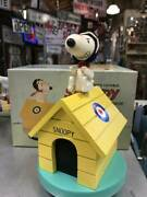 Svhmid Snoopy Red Baron Wooden Music Box Musical Doghouse 1958 Vintage Doll Rare